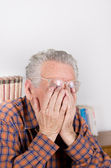 Tired old man — Stock Photo