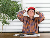 Stressful job of an engineer — Stock Photo