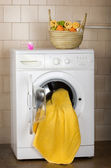Washing machine in bathroom — Stock Photo
