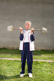 Senior man exercising — Stock Photo