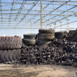 Tire recycling industry — Stock Photo #44163115