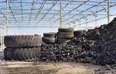 Industria di riciclaggio di pneumatici — Foto Stock