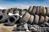 Tire recycling industry — Stock fotografie
