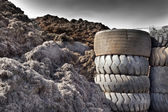 Tire recycling industry — Stock Photo