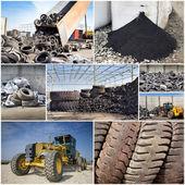 промышленность переработки шин — Стоковое фото