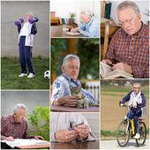 Retiree activities — Stock Photo