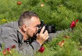 Fotograf v akci — Stock fotografie