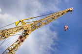 Crane in the harbor — Stock Photo