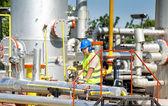 Oil worker — Stok fotoğraf