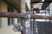 Scaffolding clamps — Stock Photo