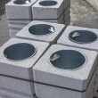 图库照片: Concrete Trash Cans