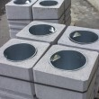 Foto de Stock  : Concrete Trash Cans