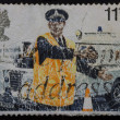 British Stamp - Policeman directing Traffic — Stock Photo