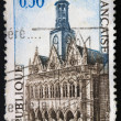 French postage stamp - Hotel de Ville de Saint-Quentin 1967 — Stock Photo