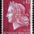 French postage stamp, Marianne de Cheffer — Stock Photo