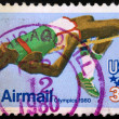 USA postage stamp - 1980 SUMMER OLYMPICS  — Stock Photo