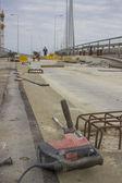 Perfurar no local de construção — Foto Stock