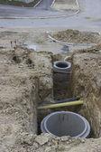 Construction of a New Manholes 2 — Stock Photo