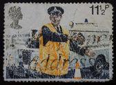 British Stamp - Policeman directing Traffic — Stock Photo