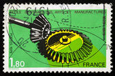 French postage stamp - School of Arts and Manufac tures — Stock Photo