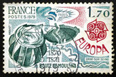 French postage stamp, 1979 EUROPA CEPT BOULE DE MOULINS 1870-187 — Stock Photo