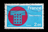 French postage stamp - Telematique — Stock Photo