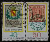 Germania stamp - tag der briefmarke 1978. Drei Sachsen Franco Pf — Foto de Stock