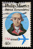 Philip Mazzei patriot remembered USA stamp — Stock Photo