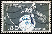 French postage stamp - Eurovision (1,80) 1980 — Stockfoto