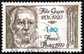 French postage stamp - Félix Guyon (1831-1920) — Stockfoto