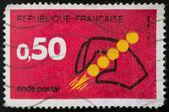 French postage stamp, 1972 Postal Codes — Foto de Stock