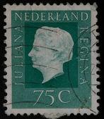 Nederland stamp Juliana Regina 75c — Stock Photo