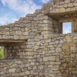 Fortification wall with windows — Stock Photo