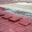 Stock Photo: Rubber Brick Pavers 3