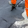Stock Photo: Asphalt worker