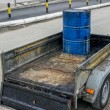 Bitumen Emulsion in Steel Drum on the trailer — Stock Photo