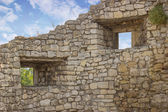 Sur duvarı ile windows — Stok fotoğraf