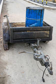 Bitumen Emulsion in Steel Drum on the trailer 2 — Stock Photo