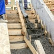 Pouring concrete steps 3 — Stock Photo