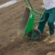 Stock Photo: Leveling Work, Soil and Site Preparation for Lawns 3