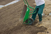 Leveling Work, Soil and Site Preparation for Lawns 3 — Stock Photo