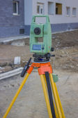 Total station at construction site - land surveying instrument 2 — Stock Photo