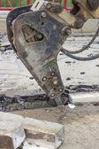 Rupture de bras hydraulique — Photo