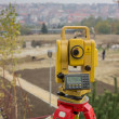 Stock Photo: Total Station on construction site