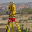 Total station on tripod — Stock Photo