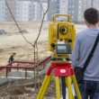 Total station on tripod 3 — Stock Photo