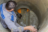 Sewer maintenance, cleaning the sewers 2 — ストック写真