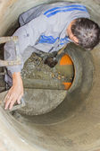 Sewer maintenance, cleaning the sewers — Stock Photo