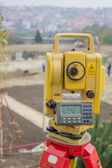 Total station on construction site 2 — Stock Photo