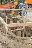 Utility crew works, engineer and surveyors 2 — Stock Photo